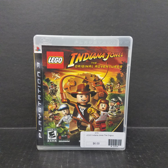 Lego Indiana Jones The Original Adventures PS3 PlayStation 3 Game