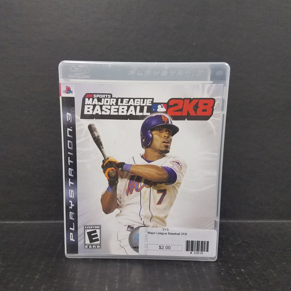 Major Leaue Baseball 2K8 PS3 PlayStation 3 Game