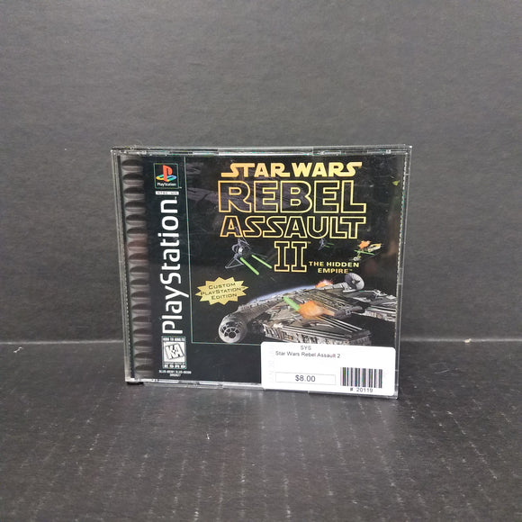 Star Wars Rebel Assault 2 PS1 PlayStation