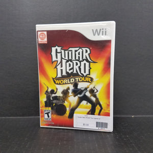 Guitar Hero World Tour Nintendo Wii [GAME ONLY]