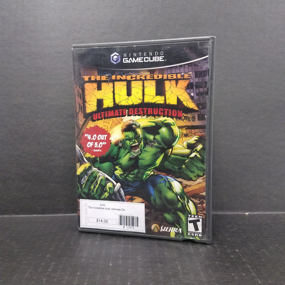 The Incredible Hulk Ultimate Destruction Nintendo GameCube Game