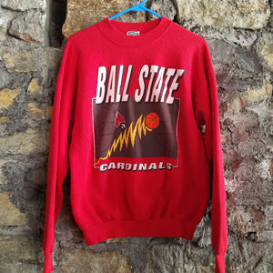 Vintage Ball State Sweat Shirt SIZE L Muncie Indiana
