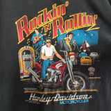 Vintage 1987 Harley Davidson / Elvis Shirt SIZE YOUTH 14/16