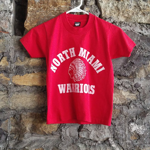 Vintage North Miami Warriors Shirt SIZE YOUTH 10/12 Indiana