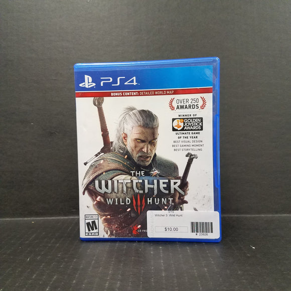 The Witcher III Wild Hunt PS4 PlayStation 4