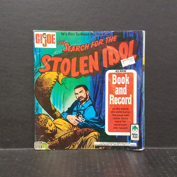 1973 G.I.Joe Book and Record The Search for the Stolen Idol