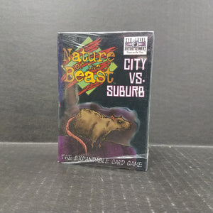 Nature of the Beast Card Game City vs Suburbs NEW
