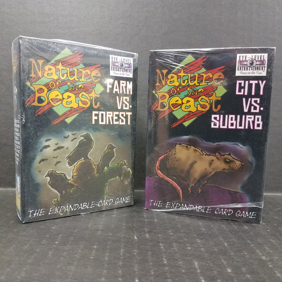 Nature of the Beast Card Games City vs Suburb & Farm vs Forest NEW