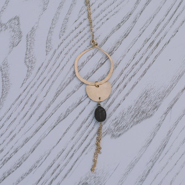Smoky Quartz Boho Long Necklace - Lux Reve