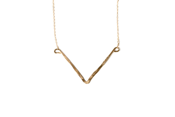 Abella Chevron Short Necklace
