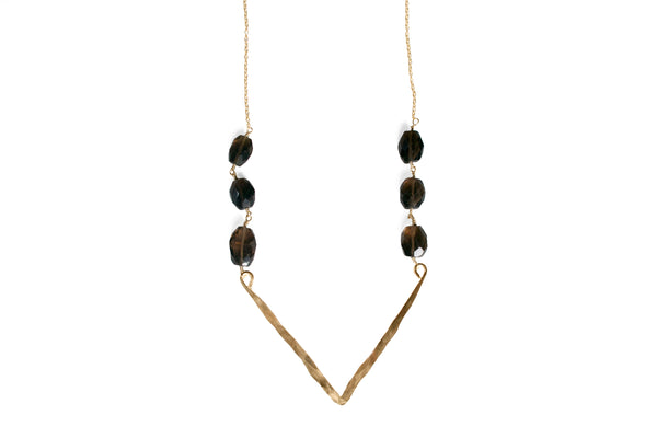 Annabella Smoky Quartz Necklace - Lux Reve