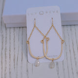 Lucky Moonstone Earrings - Lux Reve