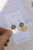 Labradorite Mini Art Deco Earrings - Lux Reve