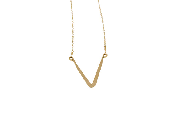 Astrid Short Gold-filled V Necklace