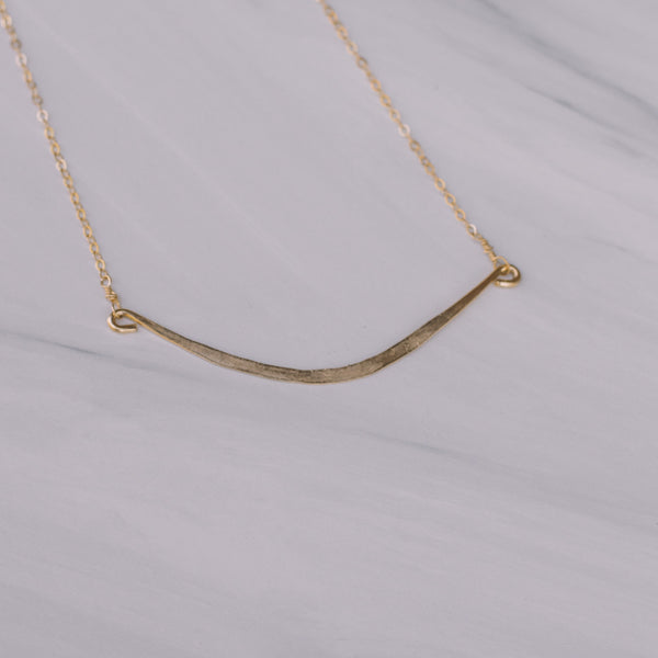 Short Gold Bar Necklace - Lux Reve