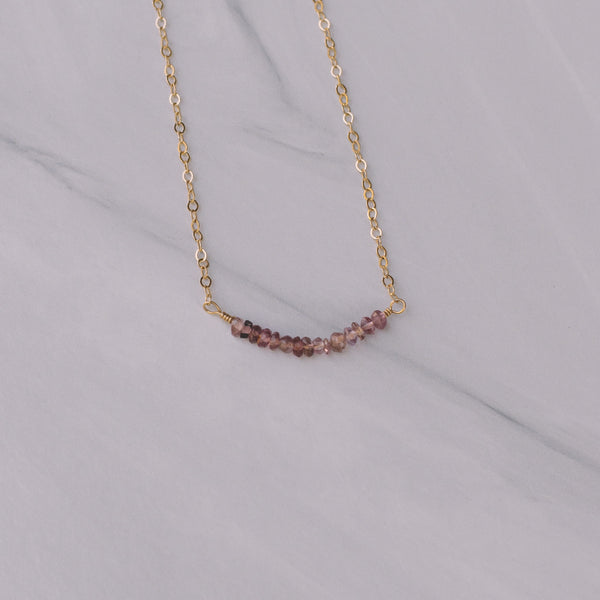Ruby Gemstone Short Necklace - Lux Reve