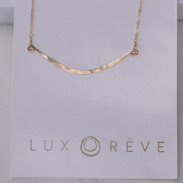 Gold Bar Short Necklace - Lux Reve