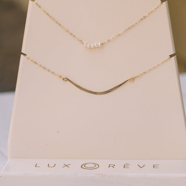 Simple Pearl Short Necklace - Lux Reve