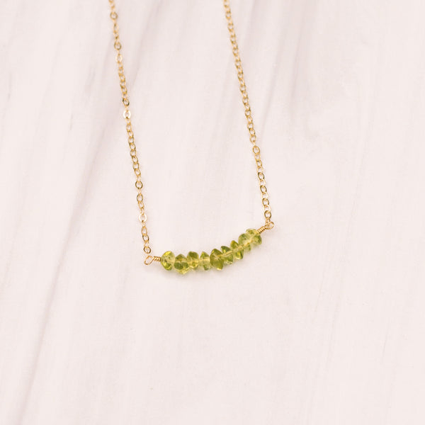 Peridot Short Necklace - Lux Reve