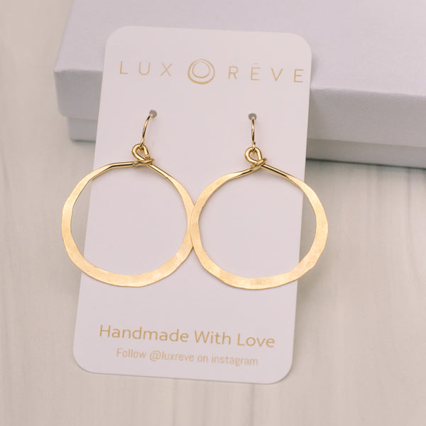 Simple Hoop Earrings - Lux Reve