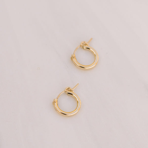 Mini Gold-filled Hoops - Lux Reve