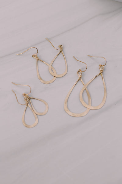 Simple Tear Drop Hoop Earrings - Lux Reve