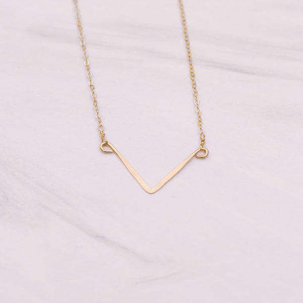 Mini V Short Necklace - Lux Reve
