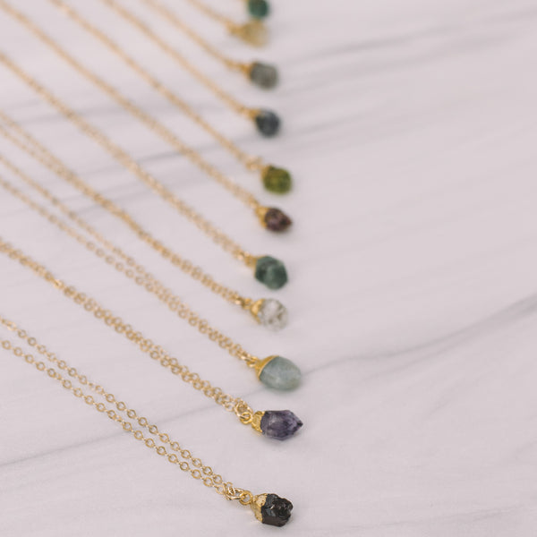 Birthstone Short Necklaces - Lux Reve