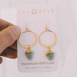 Aquamarine Hoop Earrings - Lux Reve