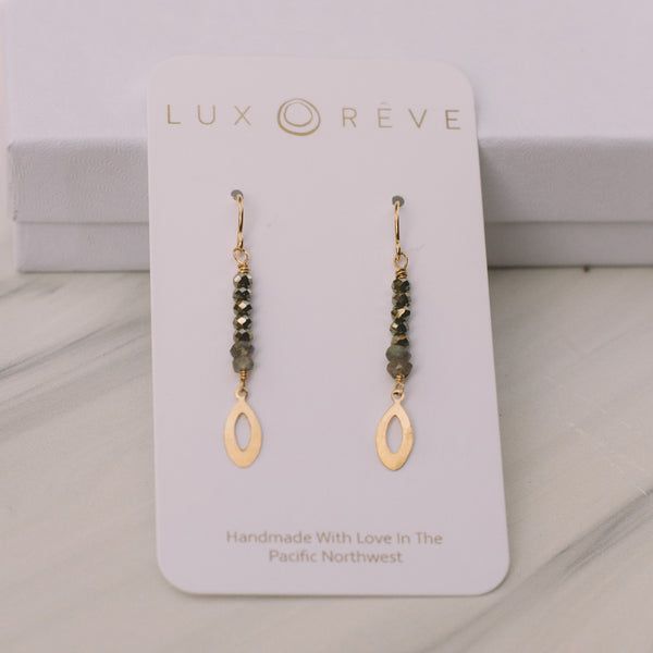 Dainty Pyrite Earrings - Lux Reve