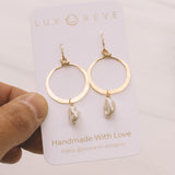 Freshwater Pearl Hoop Earrings - Lux Reve