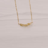 Citrine Beaded Short Necklace - Lux Reve
