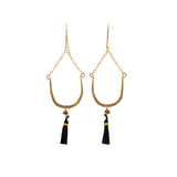 Horseshoe Tassel Earrings - Lux Reve