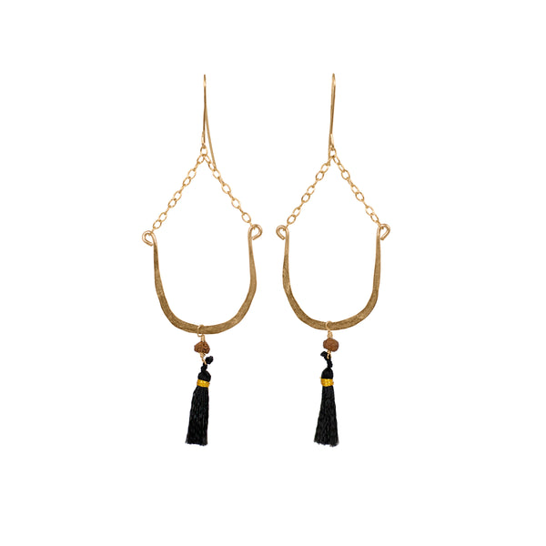 Horseshoe Tassel Earrings