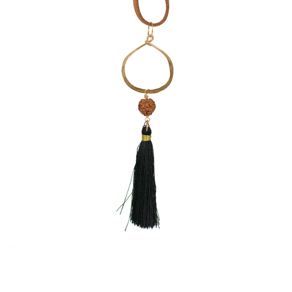 Long Suede Tassel Necklace