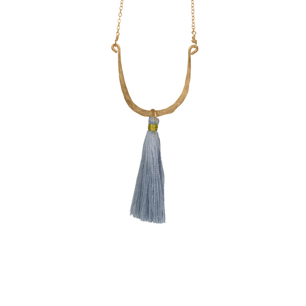 Long Horseshoe Tassel Necklace - Lux Reve
