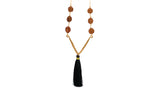 Mala Bead Tassel V Necklace - Lux Reve