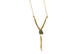 Hadely Long Pyrite Necklace