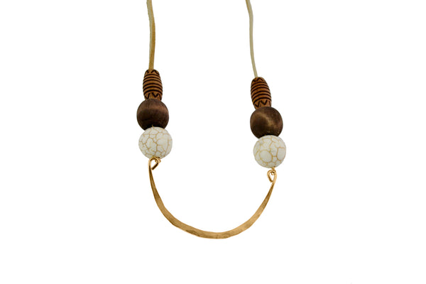 Jabari Long Suede Necklace