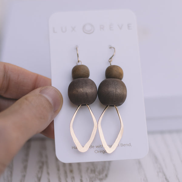 Karabou Diamond Shaped Earrings - Lux Reve