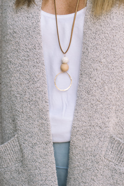 Thato Long Suede Necklace - Lux Reve