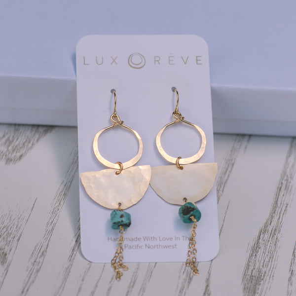 Boho Statement Turquoise Earrings - Lux Reve
