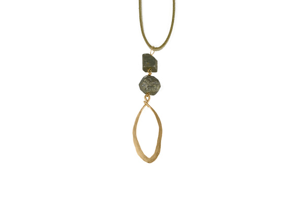 Sophie Long Suede Necklace