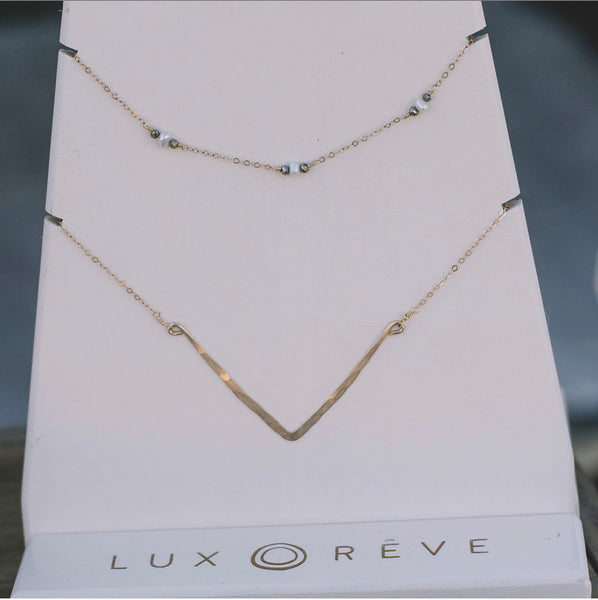 Pearl and Pyrite Choker Necklace - Lux Reve