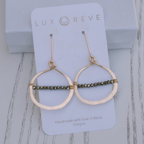 Pyrite Hoop Earrings - Lux Reve