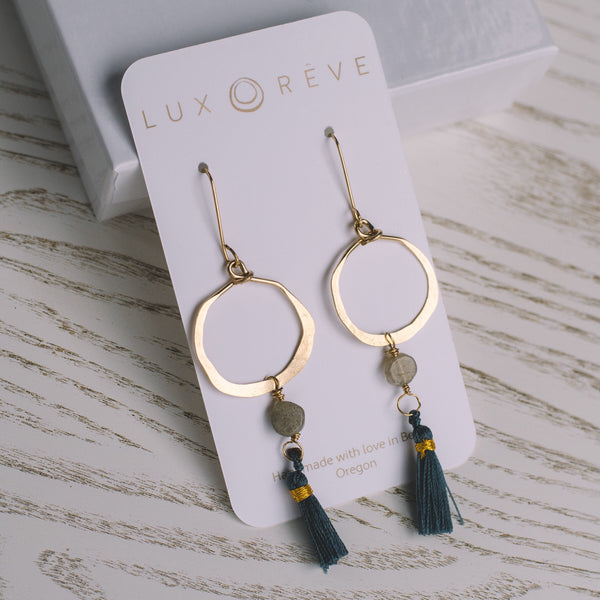 Hoop Tassel Earrings - Lux Reve