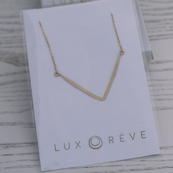 Abella Chevron Short Necklace - Lux Reve