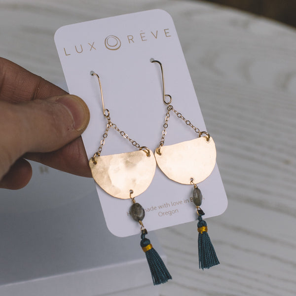 Chandelier Tassel Earrings - Lux Reve