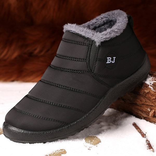 Flat Heel Waterproof Cloth  Round Toe Boots