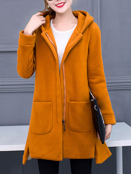 Cotton Casual Long Sleeve Shift Coat
